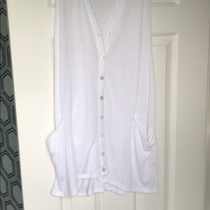 Tops - White, tank button up